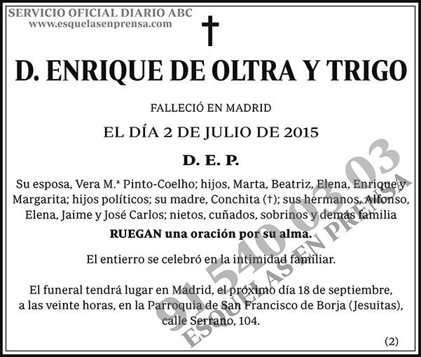 Enrique de Oltra y Trigo